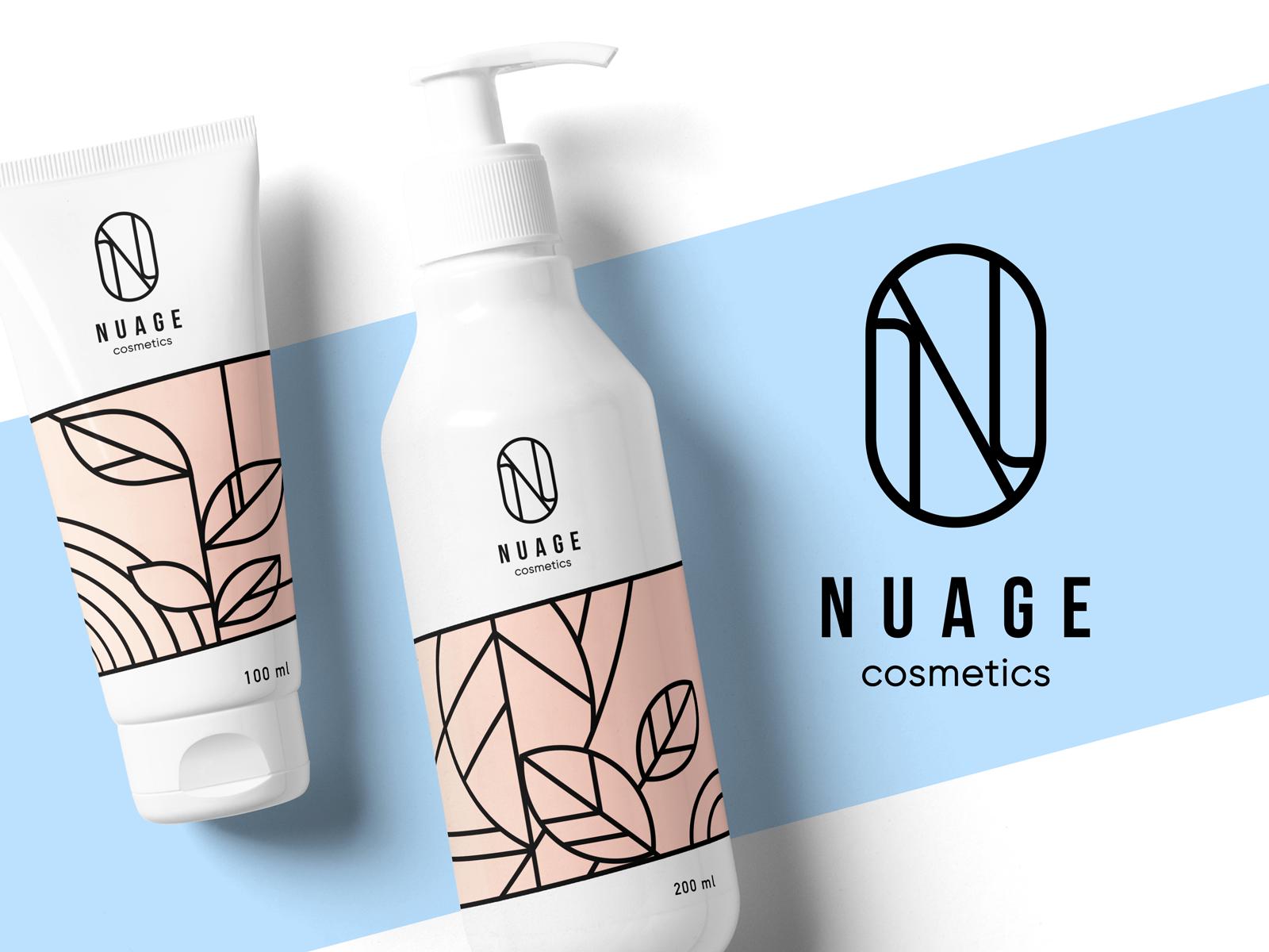 Tubik nuage cosmetics identity design