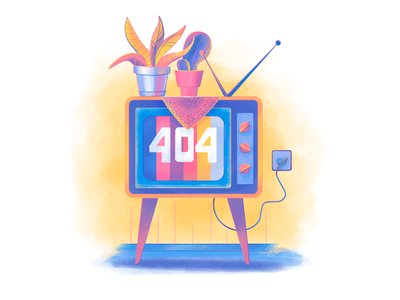 Moonworkers 404 Page Illustration 404 page colors creative agency flat graphic branding interface design studio digital art illustration graphic design