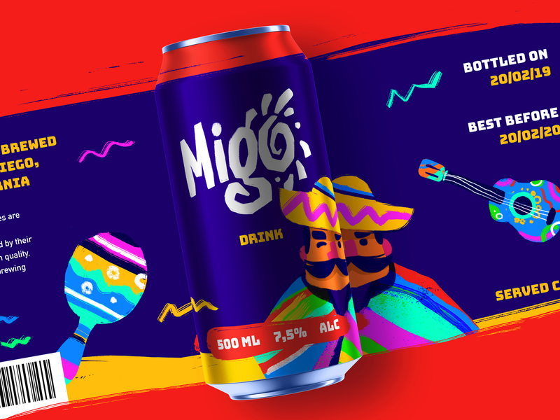 Party Drink Identity Design print branding agency packaging design drink fizzy drink can design party bright character design digital art marketing product branding graphic design vector logo branding design