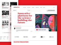 Science Web Platform Design