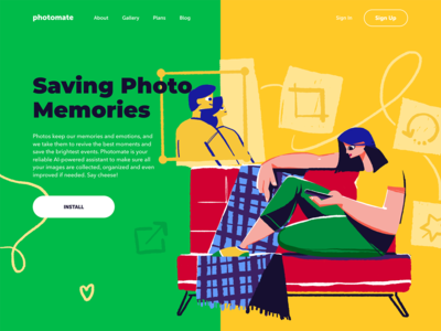 Photo Service Landing Page