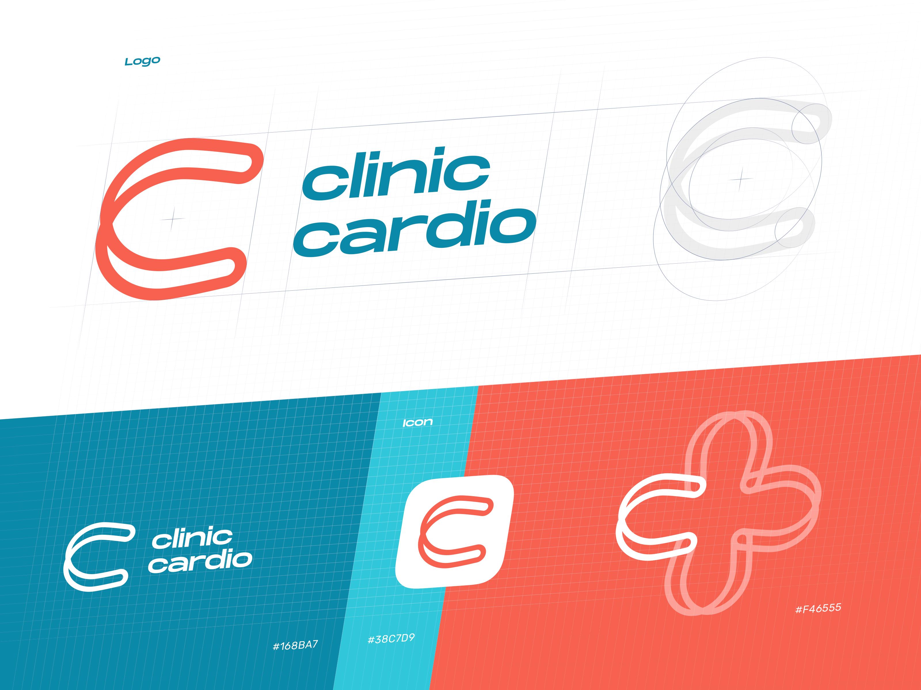 Cardio health service logo design tubik