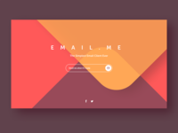 Email Subscription Webpage Design