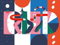 Juggling Colors Illustration
