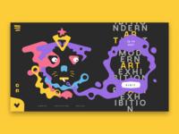 Art Exhibition Landing Page