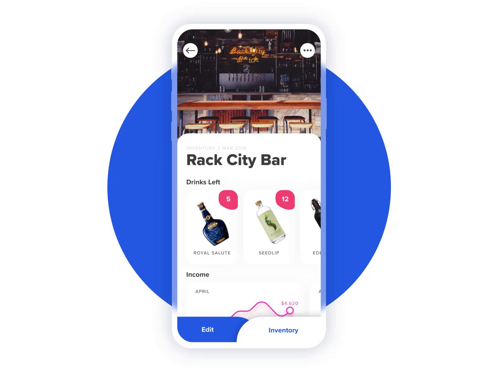 Bar inventory app ui design tubik