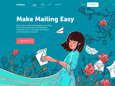 Mail Service Landing Page