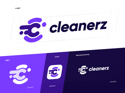 Cleanerz Logo Design ux mobile creative design car wash cleaning company lettermark app icon identity design identity cleaning logo design logo branding design studio graphic design design