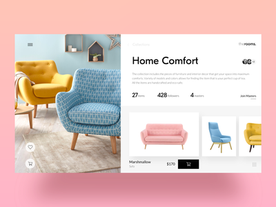 Home Decor Ecommerce: Collection user experience 3d hero image catalog collection page website web design user interface sofa shopping ecommerce furniture home branding interaction web design studio interface graphic design design