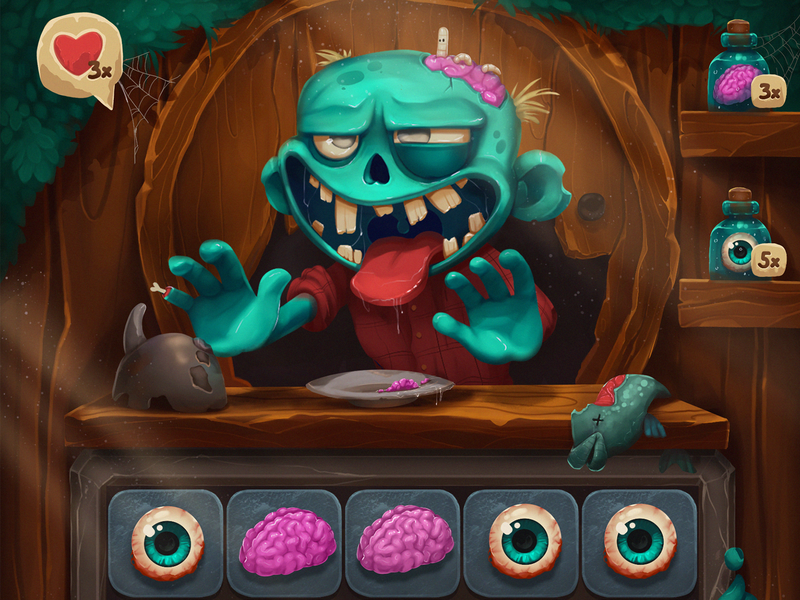 Zombar Game Design monster user experience game graphics horror user interface game ui game art cute character character interaction digital art design studio interface ui ux illustration graphic design zombie game design design