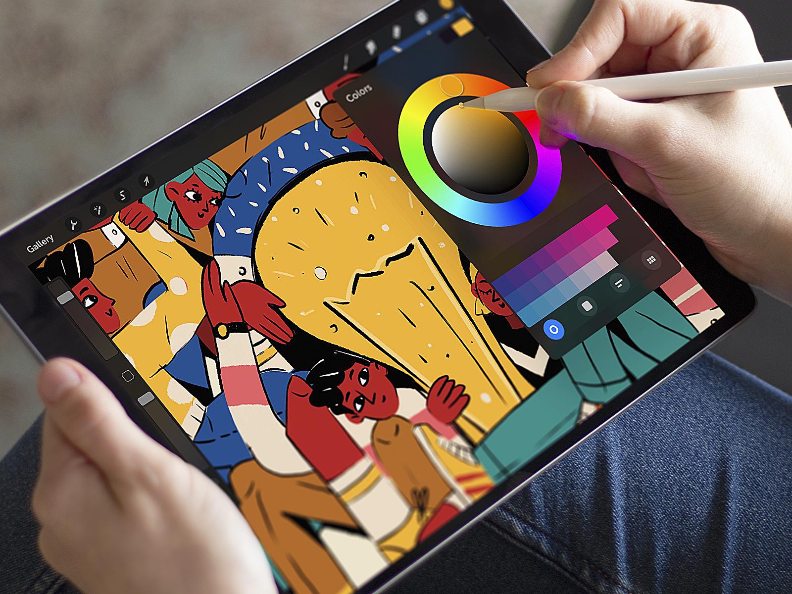 Color in digital illustration tubik