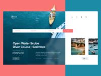 Scuba Diving Course Landing Page