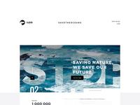 Save the Oceans Website Design