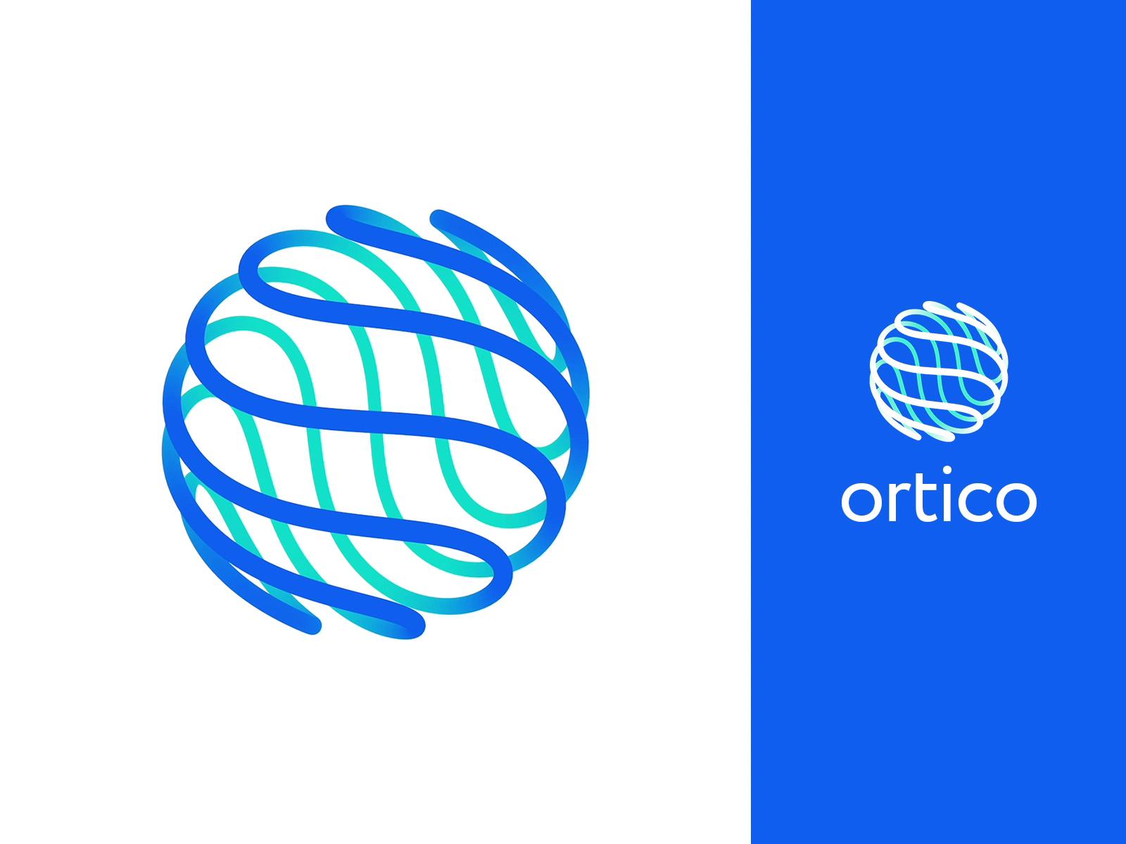 Ortico logo design animation tubik