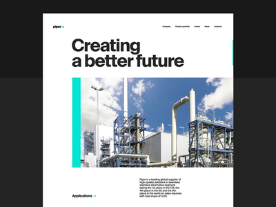 Metallurgy Plant Website: Company Page minimalism user interface about page corporate design plant metallurgy company web design website branding user experience motion interaction web animation design studio interface ui ux design