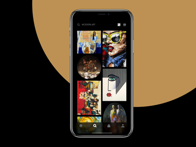 Gallery App Interactions scroll animation painting user experience animation gallery mobile app appstore design agency design interaction motion feed ios app app art product design mobile design mobile ux ui