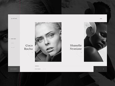 Tubik fashion models portfolio website 4x