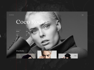 Fashion Portfolio Website: Model Page