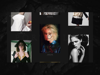 Fashion Portfolio Website Interactions