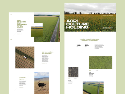 Agriculture Holding Website Design white space web interface web design business website agriculture company page home page website design company website user experience motion web interaction animation design studio interface ui ux graphic design design