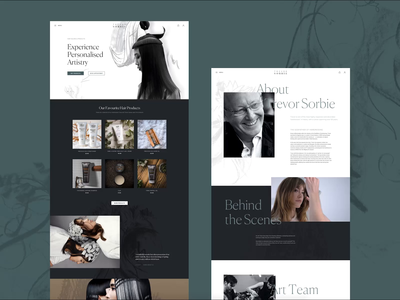 Hair Beauty Company Web Design creative design web page beauty care interaction design web design user interface beauty hairstyle fashion website user experience motion web interaction design studio interface ui ux graphic design design