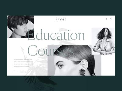 Hair Beauty Company Webdesign scroll animation women webpage web interface beauty fashion web design minimalism monochrome photography hairstyle user experience web design studio interaction interface ui ux graphic design design
