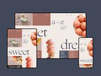 Dessert Recipes Blog Design