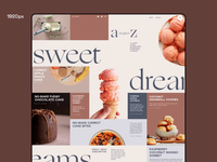 Dessert Recipes Blog Responsive Design