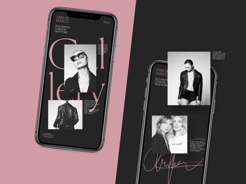 Photographer Portfolio Website Mobile