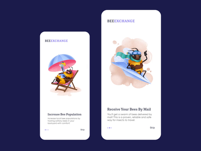 Bees Mobile App Onboarding
