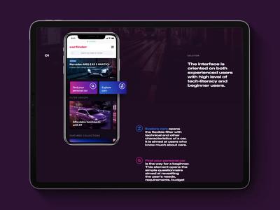 Carfinder Mobile App Design
