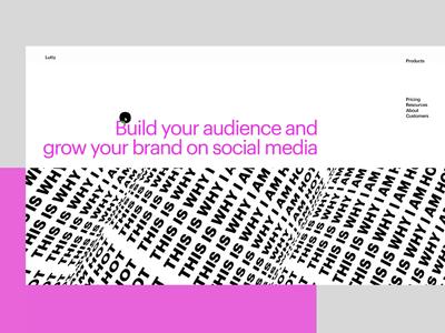 SMM Agency Website motion design user interface web interface web design typography home page company website agency website brutalism interaction design user experience web animation interaction design studio interface ui ux graphic design design