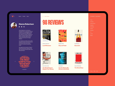 Book Reviews Website: Profile Page