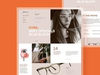 Glasses Ecommerce Website
