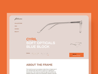Glasses Ecommerce Product Page