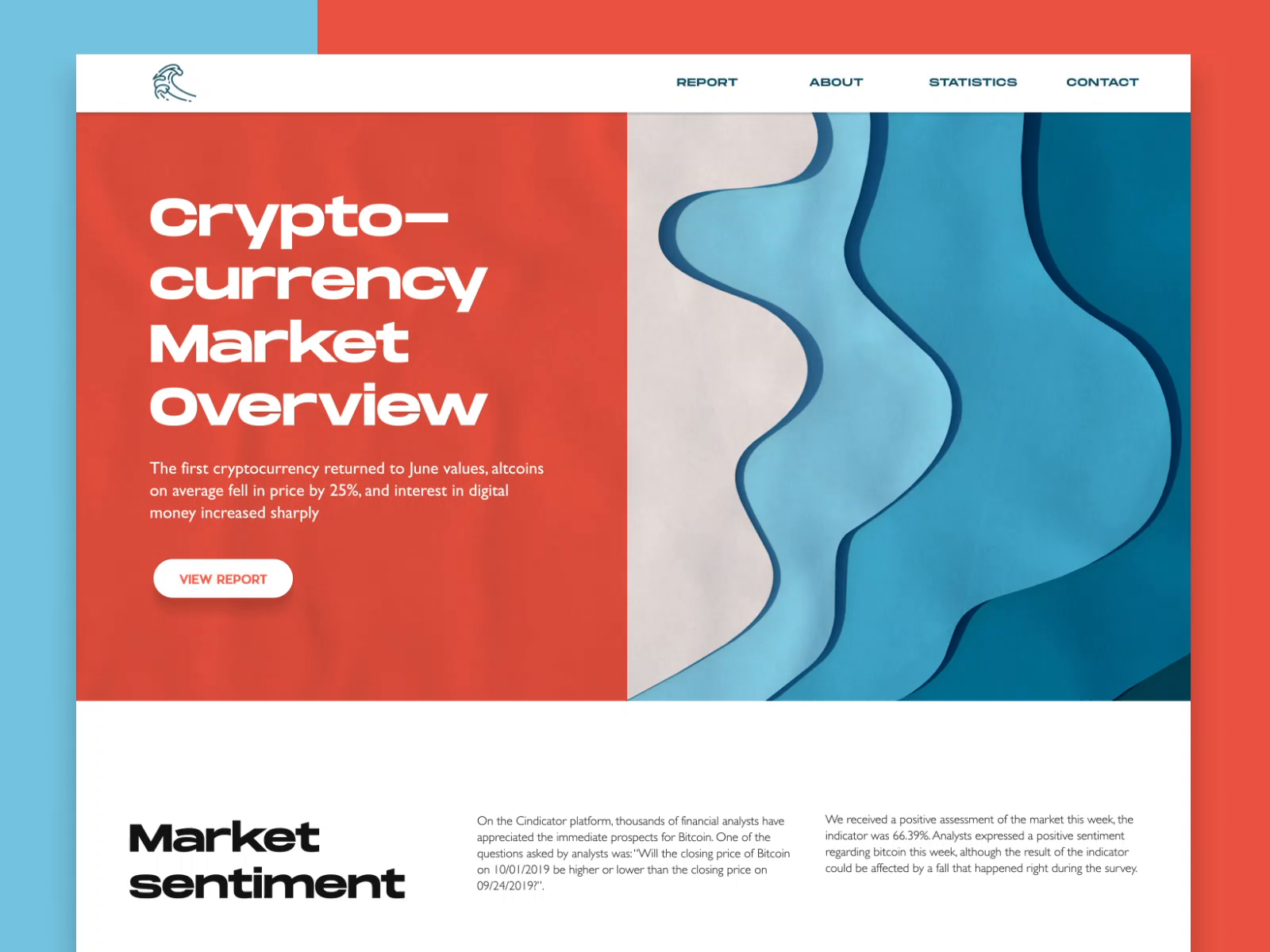 Crypto report landing page tubik