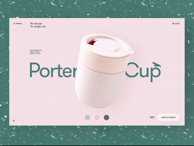 Zero-Waste Website: Product Page eco-friendly environment ecology website design cup web design product page ecommerce minimalism motion design user experience web animation interaction illustration interface ui ux graphic design design