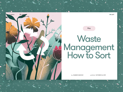 Waste Management Article Webpage web interface loader loading animation zero waste ecology environment nature motion design animation web design digital art user experience interaction design studio illustration interface ui ux graphic design design