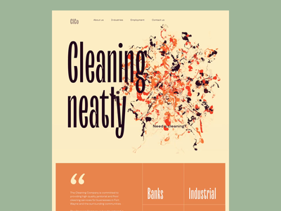 Cleaning Company Website Home Page interaction design web interface web animation user interface website design web design home page company website cleaning company motion design user experience web animation interaction design studio interface ui ux graphic design design
