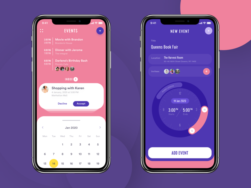 Event App: Adding New Event mobile screens schedule app to-do list calendar event screen add user interface application mobile app app design event app design studio mobile interaction user experience interface ui ux graphic design design