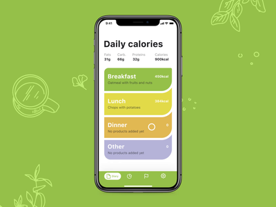 Calorie Calculator Interactions mobile screens meals eating calories food app interaction mobile app app design user interface motion mobile user experience animation interaction design studio interface ui ux graphic design design