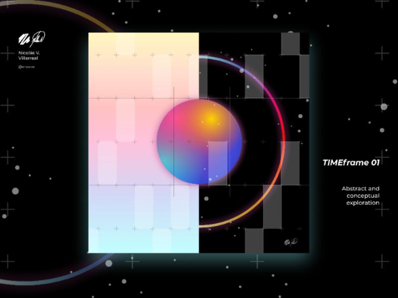 TIMEframe 01 | Digital artwork art poster abstract neo futurism