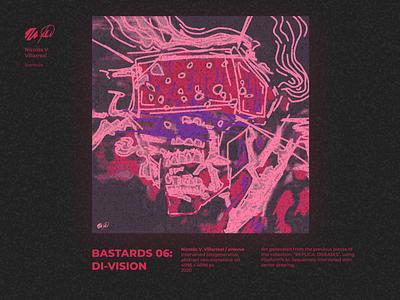BASTARDS 06: DI-VISION | Digital Artwork contemporary art generative art cryptoart concept art abstract art portrait poster art poster digital art illustration