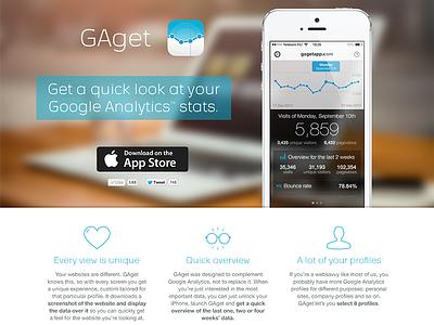 gagetapp.com gaget ios ios7 landing google analytics