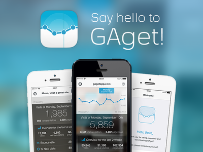 Say hello to GAget! gaget ios ios7 google analytics intro app