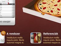 Food delivery system website - Étteremnet
