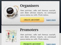 Organize, promote.