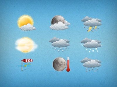 Weather icons weather icons sun clouds rain wind