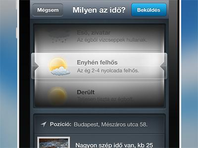 iPhone weather app update iphone app weather scroller glass