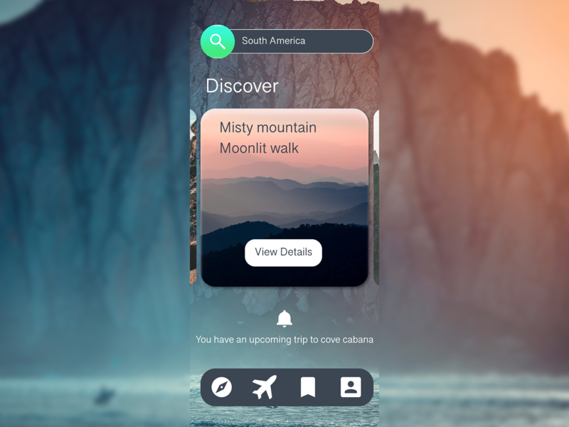 Travel app design idea